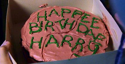 Harry Potter's birthday cake