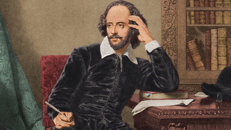 Shakespeare writing