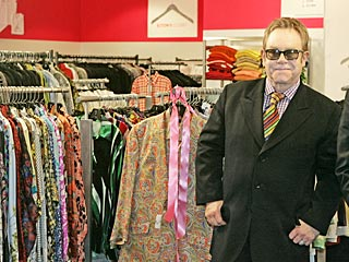 Elton John with clothes