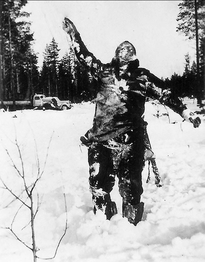 frozen soviet soldier