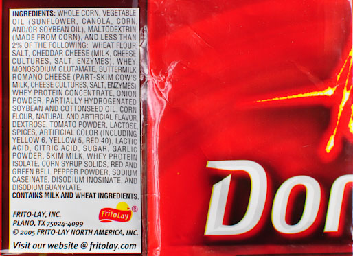 Doritos ingredients