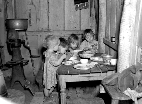great depression christmas dinner