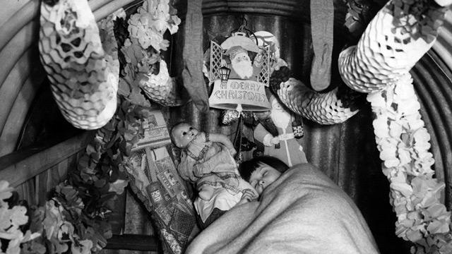 air-raid shelter christmas
