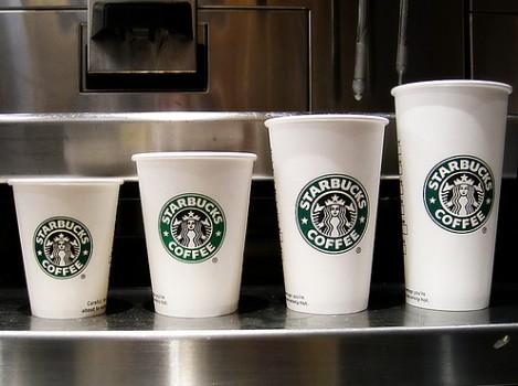 Starbucks coffee sizes