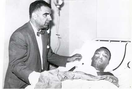 Martin Luther King Jr in hospital