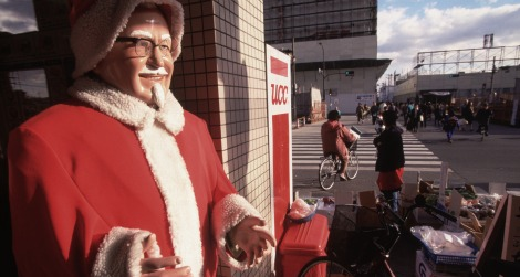 Colonel Sanders as Father Christmas