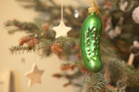 pickle on Christmas tree