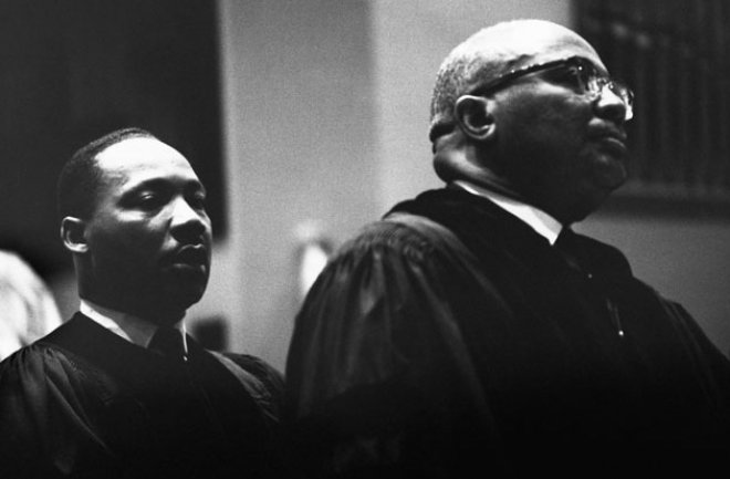 Martin Luther King Jr and father