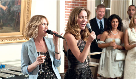 Bridesmaids engagement scene