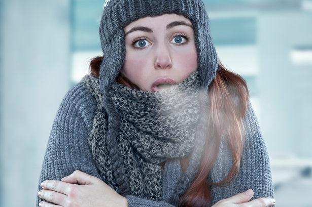 shivering woman