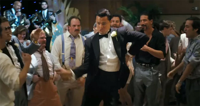 the wolf of wall street dancing