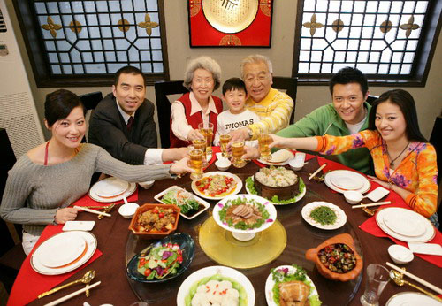Selfie During Chinese New Year Reunion Dinner Stock Image ...