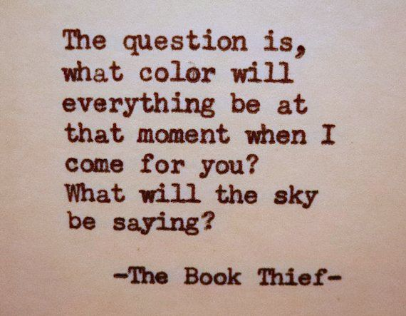 The Book Thief colour