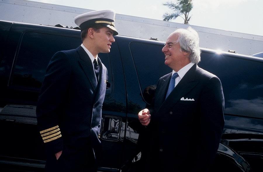 Leonardo DiCaprio and Frank Abagnale