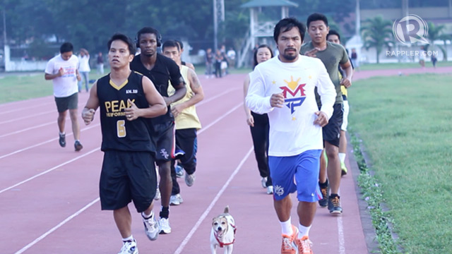 Manny Pacquiao running
