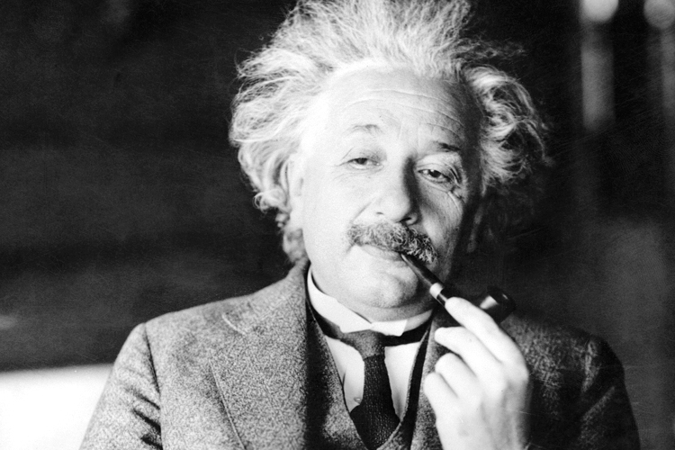 albert einstein smoking