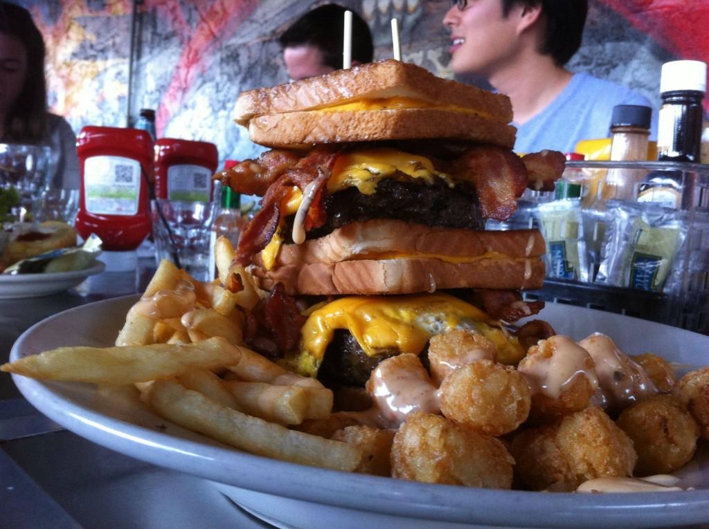 Triple Coronary Bypass Burger Challenge