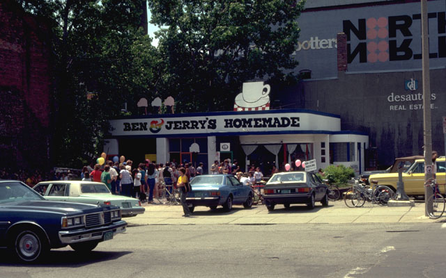 the first Ben & Jerry's shop