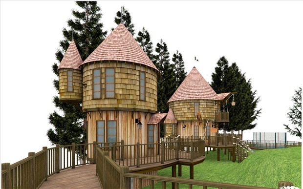 JK Rowling treehouses
