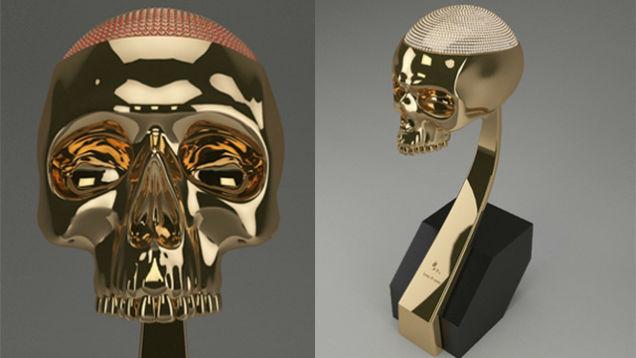 kanye west golden skull